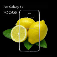 Wholesale case for samsung SVI transparent hard case for Galaxy S6