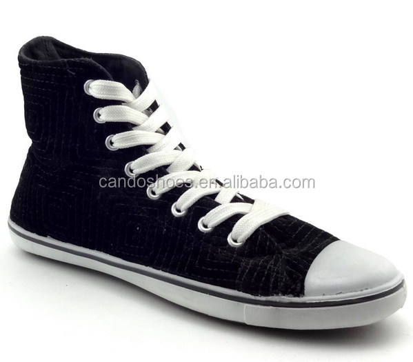 cheap wholesale shoes in china high top thin sole black