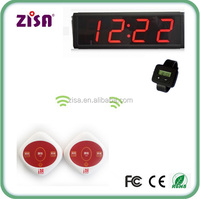 Restaurant wireless guest service call bell button pager system