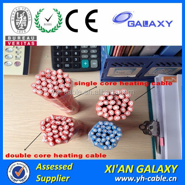 radiant under floor heating single/double core electric wire cable