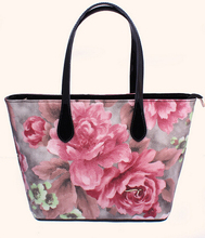 DY0406Z Europe style floral printed leather tote handbag