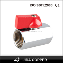 JD-241 female forged full bore brass ball valve with flat steel handle