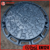 EN124 d400 manhole covers iron material buy from factory