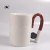Glazed ceramics special shape decorative ceramic mug