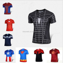Wholesale Colorful Cheap Cosplay Spider Man Iron Super Man T-shirt