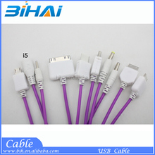 10 In 1 portable multi cell phone charge cable