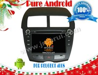 Android 4.2 car audio dvd gps system with Capacitive touch screen for peugeot 4008, 3G ,WIFI ,support OBD