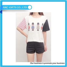 100% polyester women t-shirt fashion quick dry fit t shirts plain