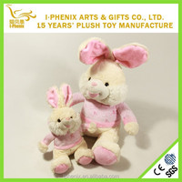Popular Bunny With Logo Printed Shirt Stuffed Soft Toy