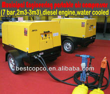 Portable screw air compressor for drilling rig JBP15LA