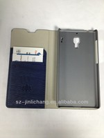 wallet card-slot pu leather cell mobile phone case for S4