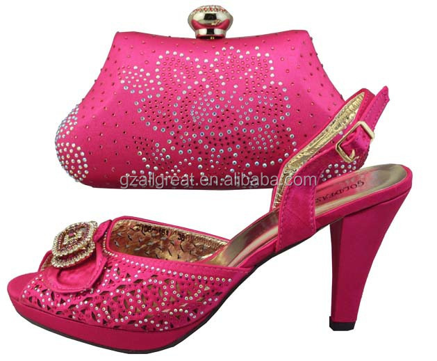 Fuchsia Shoes And Bags To Match/dress Shoes And Matching Bags/italian Matching Shoes And Bags ...