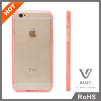 Ultra thin Transparent Crystal Clear Hard TPU PC Back Cover mobile phone case for iphone 6