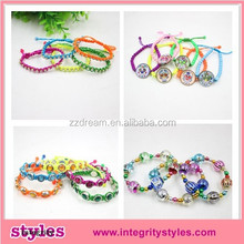 2015 Fashion Printing Glass Bead Crystal Elastic Bracelet