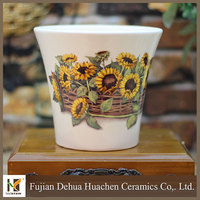 home decor morden White Large Ceramic Flower Pots
