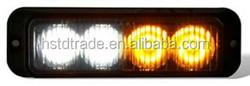 Emergency vehicle light 4 LED White Amber Warning Emergency Beacon Strobe Light