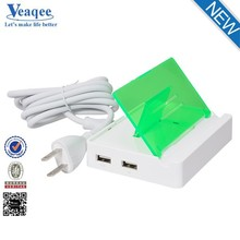 Veaqee china supplier 2USB-Port Portable and good quality usb wall charger 5v 3.1a