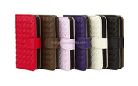 Pure Handmade Luxury Weave PU Leather Case For iPhone 6 4.7Inch the inner shell is a PC material shell solid seams