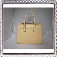 Wholesale ladies leather tote bags crocodile skin handbags