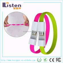 Fashion USB Charger Portable Ring Mini Wrist Cable Bracelet Data Cable
