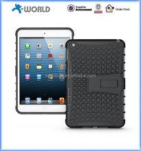 New Arrival kickstand case for Ipad mini 4, combo case for ipad mini4, pc tpu dual layer case cover for ipad mini