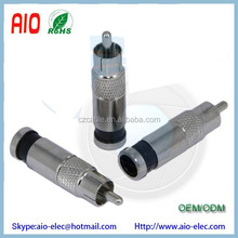 Dual Shield RCA male compression plug connector for RG59 Coaxial Cable