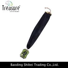 gioielli fatti a mano divertente sciarpa di seta nera collana