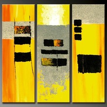 yellow painting abstract canvas decorative wall art
