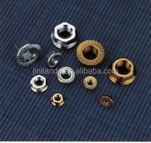 din6923 hexagon flange nut white plate hex flange nut yellow plated , zinc plated m5,m6,m8,m10,m12,m16