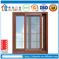 Timber look sliding window