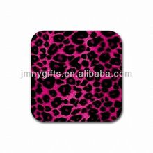 Promotional custom logo filled soft pvc cup pad cup coaster