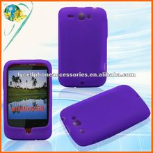 For HTC Wildfire G8 6225 soft silicone gel purple rubber skin case