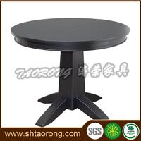 Modern cheap round wooden dinner table for restaurant