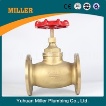 "ML-1406 china supply UPC/UL/CSA/FM Certificate10years Warranty class250 3/4"" flange type Brass stop/globe Valve/PN25 Stop Valve"
