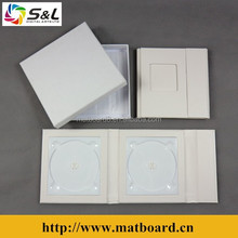 Wholesale wedding CD album gift use elegant DVD box leather CD folios single CD case