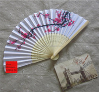 200pcs cherry blossom silk hand fan perfect party favor or wedding favor DHL Freeshipping