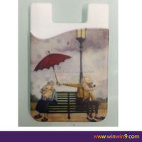 Custom private label card holder attach to the back of smart phone