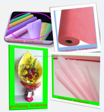 popular design nonwoven floral wrap for Valentine's Day 25g zhejiang
