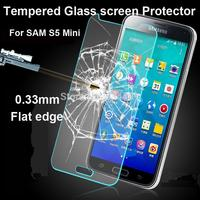 Hot sale Amazing 9H 2.5D 0.26mm Tempered Glass Screen Protector Film For Samsung Galaxy S5 Mini Anti Explosion