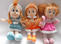 factory supply plush cute doll with knitting wool tails