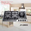 Diseño de lujo 8mm panel de vidrio templado construido- en 5 quemador de la estufa de gas con JY-G5033