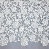 White floral cord laces nigerian bridal lace fabric african lace fabrics HY0279