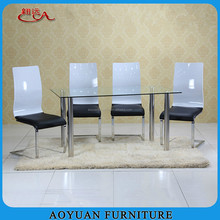 C231 6 seaters chrome plated steel dining table