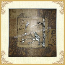 Wrought iron framed artwork wall home decor framed artwork
