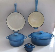 High quality blue enamel cast iron cookware/casserole