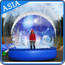 Transparent Inflatable Snow Globe For Event, Customized Entertainment Inflatable Snow Globe , Inflatable Bubble Tent With Air Ma
