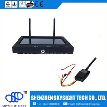 "Skyzone /Boscam fpv kit 5.8ghz 32ch 600mw osd fpv video transmitter+5.8G 32ch 7"" lcd fpv diversity receiver and monitor"
