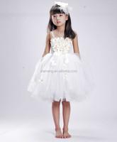 Trade Assurance white fancy girls latest children 2015 new frock design