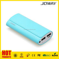 5200mAh power banks design of dual USB output interface, 2.4A output charging