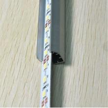 Wholesale!!! 40pcs LED light bars rigid led strip 0.5m 36LED IP20 12V SMD 5050 with aluminium profile and end cap